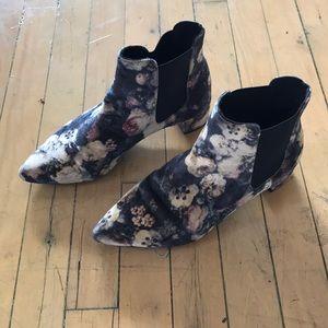 Velvet floral Topshop boots